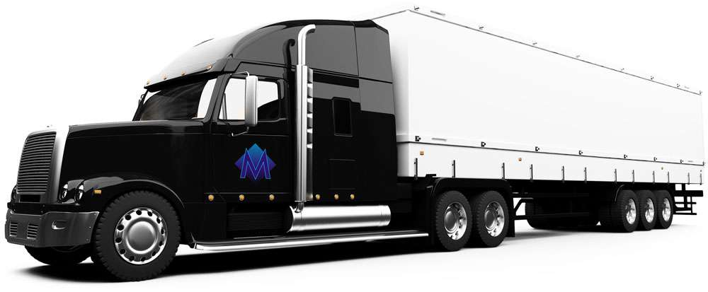 large semi truck with M. Gerace logo on the door